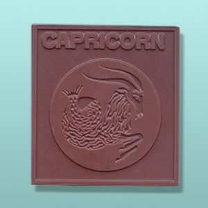 Chocolate Capricorn Zodiac Plaque