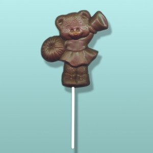 Chocolate Cheerleader Bear Party Favor
