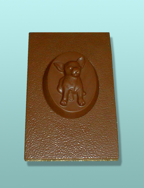 Chocolate Chihuahua Dog Flat Plaque