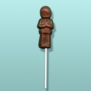 Communion Boy Chocolate Lolly
