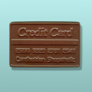 Chocolate Shopaholic Credit Card Favor