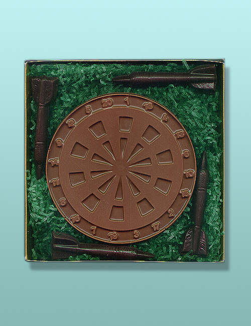 Chocolate Dart Board and Darts Gift Set