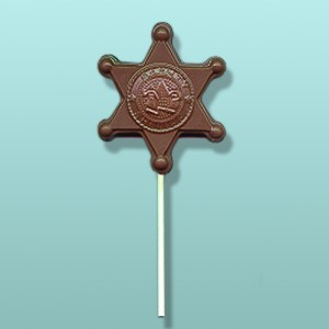 Chocolate Deputy Sheriff Badge Favor
