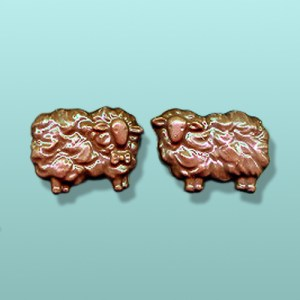 2 pc. Chocolate Ewe and Ram Party Favor