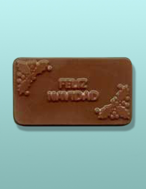 Chocolate Feliz Navidad Mini Card Favor