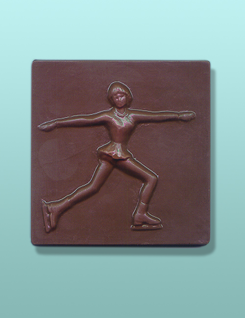 Chocolate Female Figure Skater Plaque