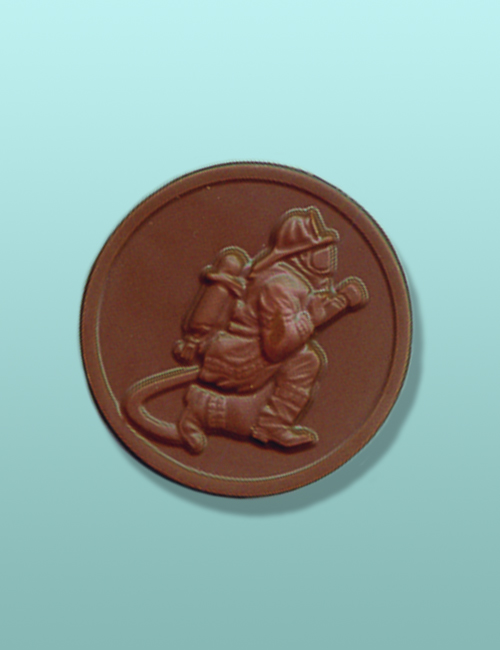 Chocolate Fighting Fire Medallion
