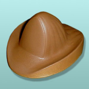 3D Chocolate Fire Fighter Helmet