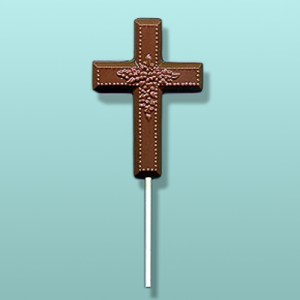Chocolate Floral Cross Party Favor