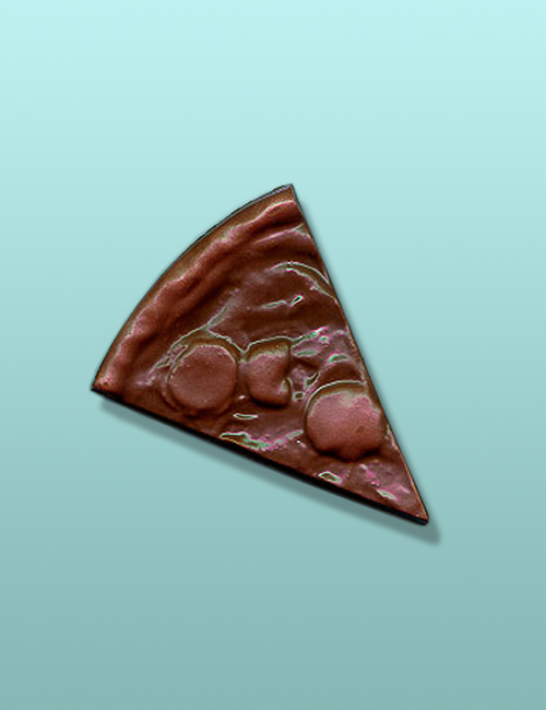 "Chocolate 5"" Pizza Slice Party Favor"
