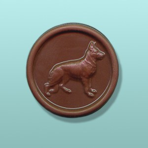 Chocolate German Shepherd Medallion I
