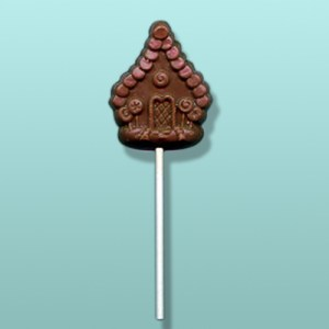 Chocolate Gingerbread House Lolly