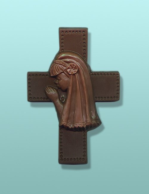 Praying Girl Chocolate Cross