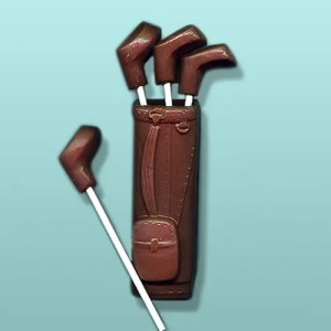 3D Chocolate Golf Bag with 4 Clubs