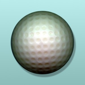3D Solid Chocolate Golf Ball Party Favor