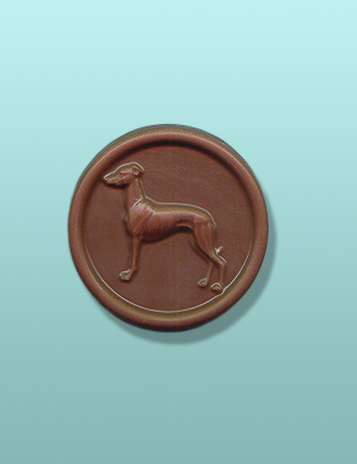 Chocolate Greyhound Medallion Favor