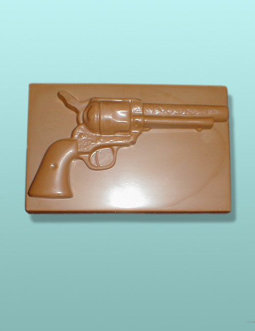 Chocolate Revolver Gun Plaque