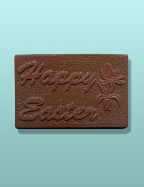 Chocolate Happy Easter Lily Plaque