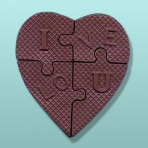 Chocolate I Love You Heart Puzzle