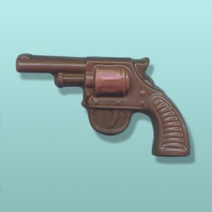 Chocolate Revolver Gun Medium Favor
