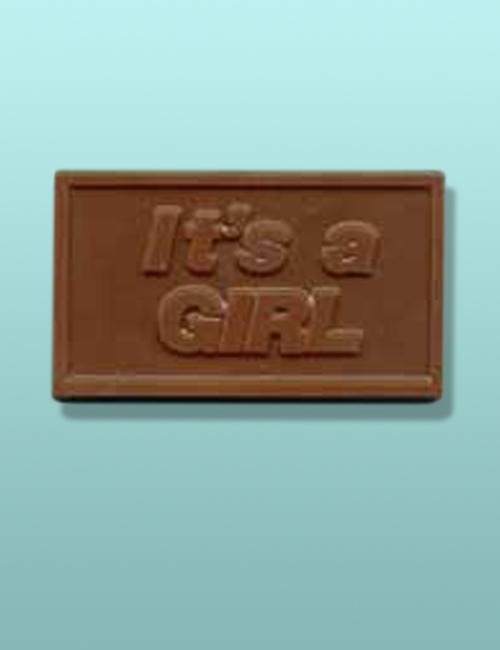 "Chocolate ""It's A Girl"" Mini Card Favor II"