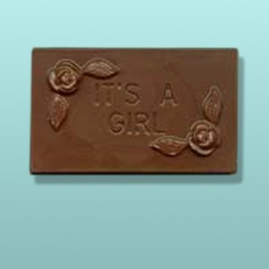 Chocolate It's A Girl Mini Card Favor I