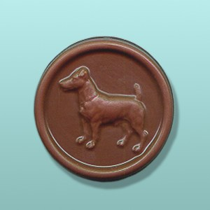 Chocolate Jack Russell Medallion Favor