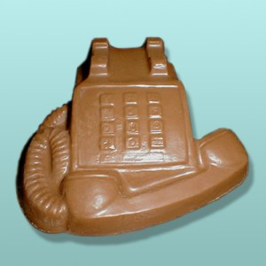 3D Chocolate Desk Medium Telephone
