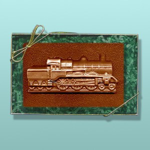 Chocolate Locomotive Engine Plaque