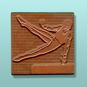 Chocolate Male Gymnast Plaque