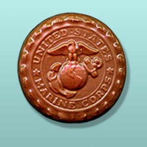Chocolate Marines Medallion Favor