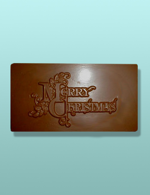 Chocolate Merry Christmas I Plaque