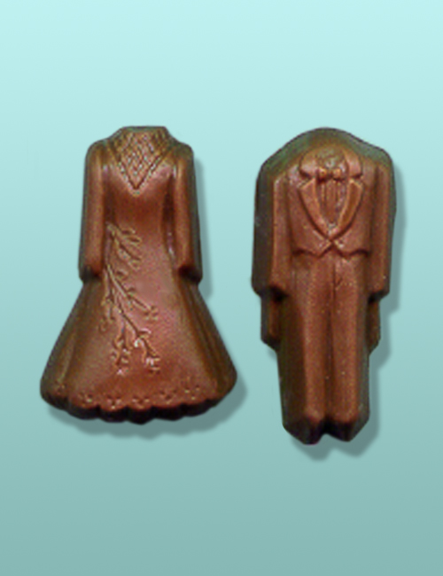 Chocolate Gown and Tux Mini Favor