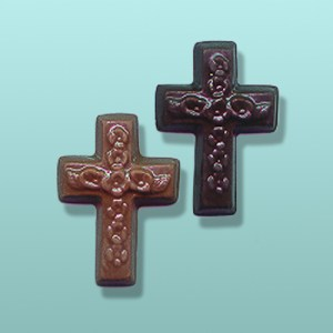 Chocolate Mini Floral Cross Favor