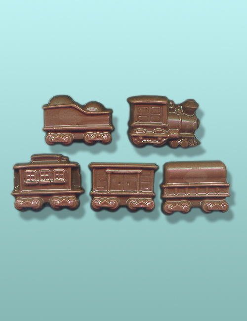 5 pc. Chocolate Train Mini Favor Set
