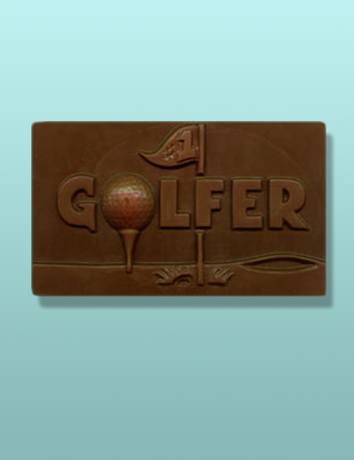 Chocolate Golfer Flat Plaque