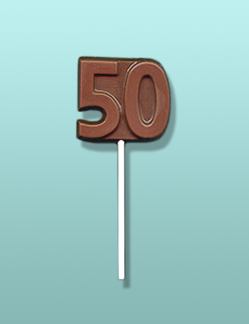 Chocolate Number 50 Party Favor