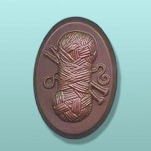 Chocolate Oval Knitting Party Favor