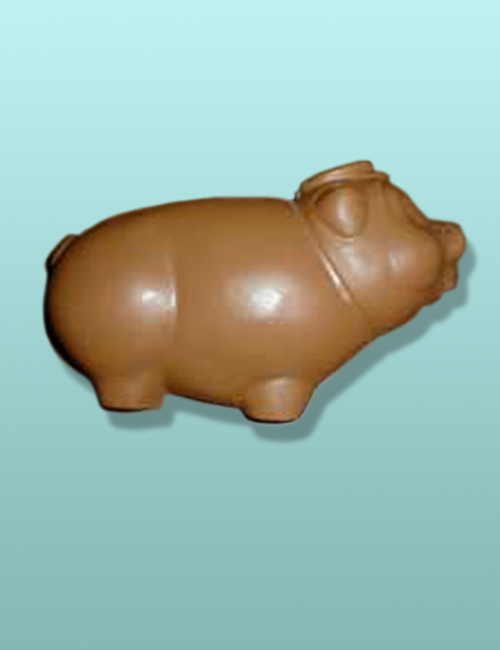 Chocolate Piggy Bank Porker Flat X-Large
