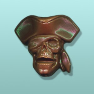 Chocolate Captain Skull Party Favor
