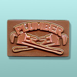 Chocolate Plumbers Business Card Favor