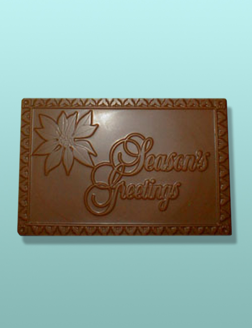 Chocolate Season's Greetings Plaque I