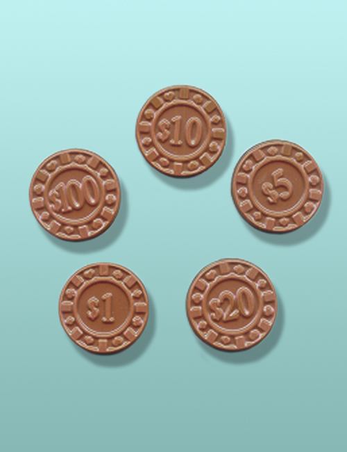 2 pc. Chocolate Poker Chips Favor