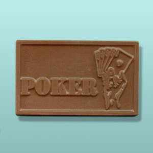 Chocolate Poker Hand Card Favor