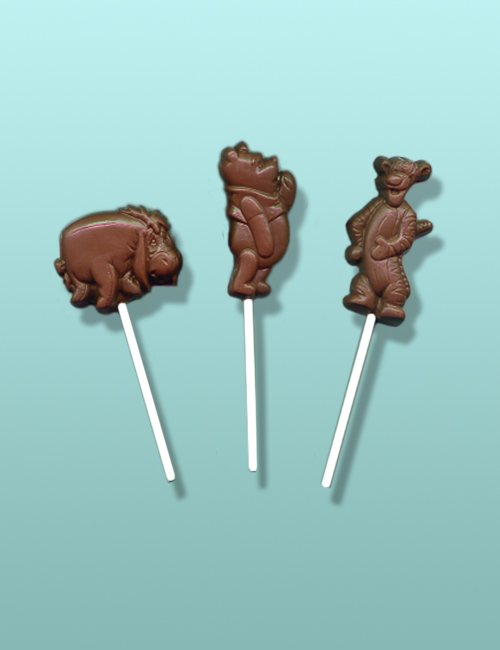 3 pc. Chocolate Pooh Friends Lolly Gift Set