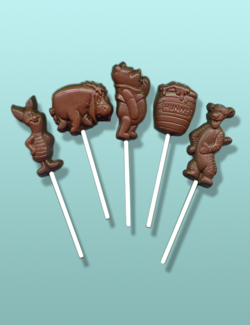 5 pc. Chocolate Pooh Friends Lolly Gift Set