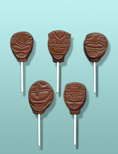Chocolate Power Ranger Lolly