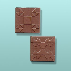 2 pc. Chocolate Square Quilting Favor I