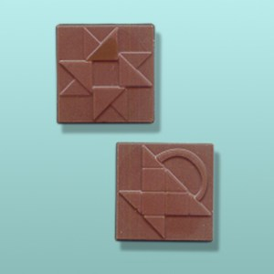 2 pc. Chocolate Square Quilting Favor II