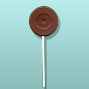 Chocolate 45 rpm Record Lolly Favor